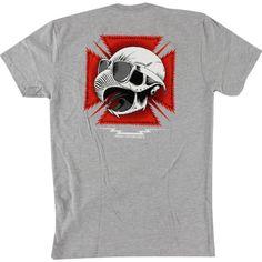 Baker Tribute Heather Grey T-Shirt now available at Warehouse Skateboards! #whskate  #skateboarding
