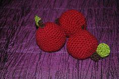 Crochet apples. Crochet Apple, Apples, Crafts, Jewelry, Fashion, Moda, Manualidades, Jewlery, Jewerly