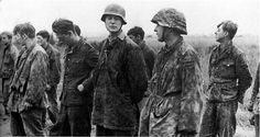 The battle of Kursk.1943 . Captured German soldiers after the battle, the village of Prohorovka.