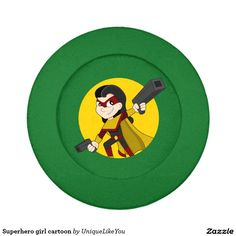 Superhero girl cartoon pack of small button covers