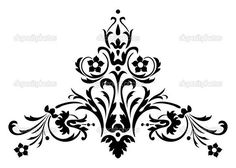 (99) Одноклассники Baroque Pattern, Pattern Art, Pattern Design, Bunch Of Flowers Drawing, Fleurs Art Nouveau, Islamic Motifs, Art Nouveau Illustration, Whole Cloth Quilts, Neckline Designs