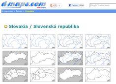 Návod na vyhľadávanie obrysových máp na internete a možnosti ich využitia na hodinách Geografie.