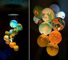 12 Ideen für selbstgemachte Lampenschirme #DIY #Lampe #Lampenschirm