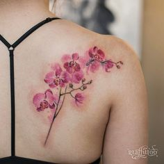 Pink Orchids by graffittoo