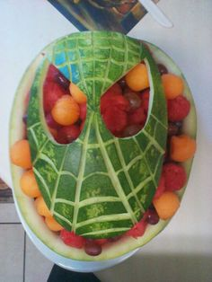 Spiderman fruit bowl by Rachel Ortiz