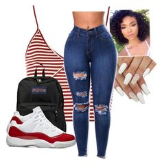 """""""Cute hottie"""" by denissevaldez on Polyvore featuring Topshop and JanSport"""