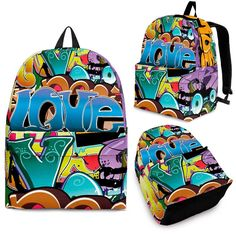 Check it out now! Grafitti Backpack Here: http://nvr2lte2shop.com/products/grafitti-backpack?utm_campaign=social_autopilot&utm_source=pin&utm_medium=pin