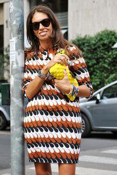 Milan Fashion Week Style - Street Style From Milan Fashion Week 2011 - Page 1 Giovanna Battaglia, Gigi Hadid Outfits, Style Me, Cool Style, Shops, Street Style, Milan Fashion Weeks, Anna Dello Russo, Simple Outfits
