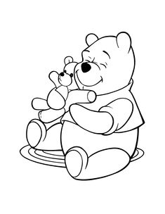 winnie the pooh coloring pages car cartoon cartoons color