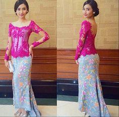 Kebaya Sabrina Vera Kebaya, Kebaya Lace, Batik Kebaya, Kebaya Dress, Batik Dress, Lace Dress, Kebaya Brokat, Kebaya Sabrina, Style