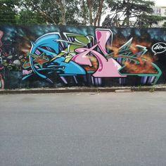 Graffiti in Buenos Aires. Urban art.