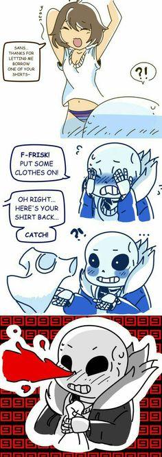 Pit some clothes on Frisk:catch Sans: (////////)