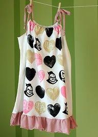 Easy DIY t-shirt to dress for little girls