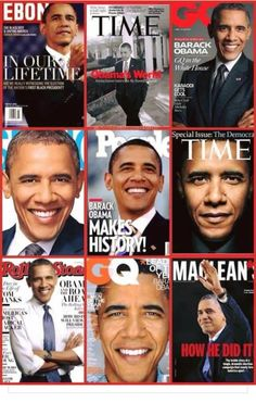 The Many Faces Of Our President Barack Obama On The Cover Of Several Mag. His smile is always so genuine Black Presidents, Greatest Presidents, American Presidents, American Soldiers, First Black President, Mr President, Barak And Michelle Obama, Presidente Obama, Black History Facts