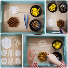 Zauberhafte Bienen - Women's style: Patterns of sustainability Bee Activities, Montessori Activities, Toddler Activities, Preschool Centers, Preschool Science, Bee Crafts, Diy Crafts For Kids, Imaginative Play, Classroom Themes