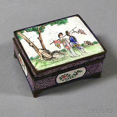 Chinese Canton Enamel Box