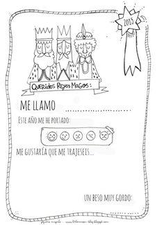 Algunas ideas para contarle a los Reyes Magos como nos hemos portado este año, espero que bien :-) Tarjeta para los zapatos: Idea sa...