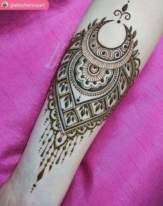 Neue Tattoo Arm Henna Mehendi Ideen – Tattoos and piercings Henna Designs Arm, Beautiful Henna Designs, Mehndi Art Designs, Simple Mehndi Designs, Mehndi Designs For Hands, Easy Mehndi, Henna Tattoo Hand, Henna Tattoos, Henna Body Art