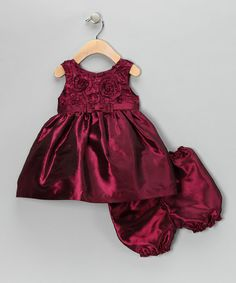 Take a look at this Fuchsia Bow Dress & Bloomers - Infant by C.I. Castro on #zulily today!