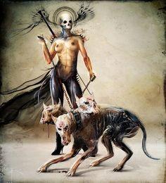 Women of Horror and Violence Arte Horror, Horror Art, Dark Art Paintings, Dark Artwork, Demon Art, Dark Fantasy Art, Arte Black, Creepy, Arte Obscura
