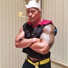 Well now I'd like to introduce Rockeye: | The Rock Literally Wore The Most Perfect Halloween Costume