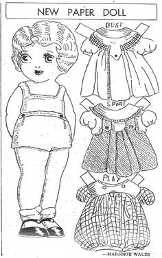 Mostly Paper Dolls: The Tribune Paper Doll Family