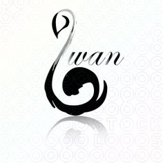 minus the word swan Mini Tattoos, New Tattoos, Small Tattoos, Schwan Tattoo, Tatoo 3d, Treble Clef Tattoo, Swan Logo, Make Your Own Logo, Spirited Art