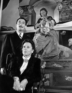 Gala and Salvador Dali in front of The Madonna of Port Lligat, c. 1950