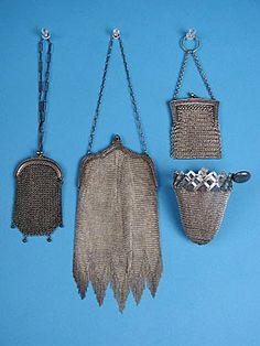4 Silver Metal Mesh Bags, c. 1920s October 24, 2004 - Session 2 Lot 414 - $140.00
