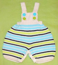 Striped summer dungaree shorts