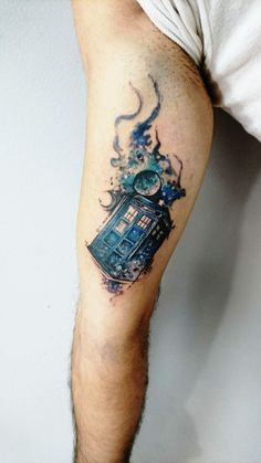 Tattoos, best sleeve tattoos, tattoos for guys, dr who tattoo, doct Dr Who Tattoo, Doctor Tattoo, Doctor Who Tattoos, Dad Tattoos, Best Sleeve Tattoos, Future Tattoos, Body Art Tattoos, Geek Tattoos, Tardis Tattoo