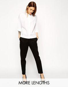 Image 1 ofASOS Slim Cigarette Linen Trousers