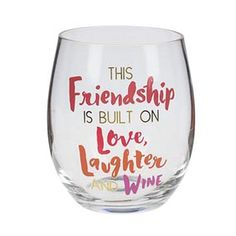 38bcb1e529d Stemless Wine Glass Friendship – Jubilee Gift Shop Wine Glass, Friendship,  Cricut, Punch