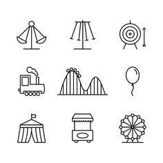 Amusement park icons by Microvector on Creative Market Easy Doodles Drawings, Simple Doodles, Cute Doodles, Carnival Tattoo, Roller Coaster Drawing, Cat And Dog Tattoo, Wheel Tattoo, Doodle Icon, Bullet Journal Themes