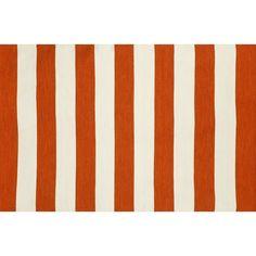 Trans Ocean Imports Liora Manne Sorrento Rugby Stripe Indoor Outdoor Rug, Red
