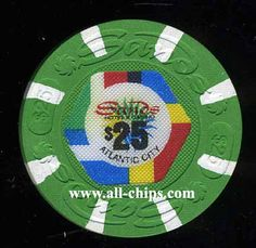 Atlantic City Casino Chip of the Day is a $25 Sands 2nd issue in Uncirculated Condition you can get here http://www.all-chips.com/ChipDetail.php?ChipID=17841
