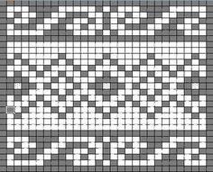 fair isle knit chart muziek en meer: Gebreid granny-plaid