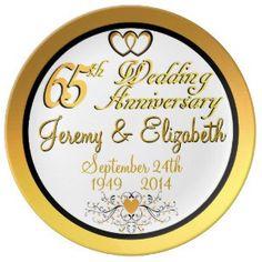 """Elegant 65th Anniversary Porcelain Plate (<em data-recalc-dims=""""1"""">$54.95</em>)"""