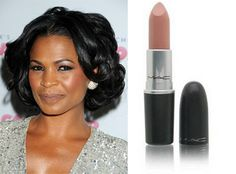 Nia Long wearing MAC Lipstick Siss