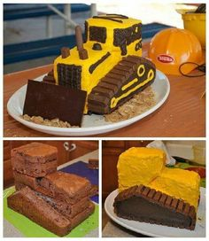 Bulldozer cake birthday bagger bagger bulldozercake beburtstag cake bagger beburtstag birthday bulldozer bulldozercake cake recipes decorate cakes with icing or icing for weddings step by step cakes decorate icing step weddings Bulldozer Cake, Cake Decorating Tips, Cookie Decorating, Cupcakes, Cupcake Cakes, Cake Designs For Kids, New Cake, Easy Cake Recipes, Cake Designs
