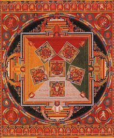 mandala of the six chakravartins - tibetan buddhist thangka painting - anon tibetan - # Thangka Tibetan Mandala, Tibetan Art, Indian Mandala, Mandala Art, Mandala Painting, Buddhist Symbols, Buddhist Art, Buddha Buddhism, Tibetan Buddhism