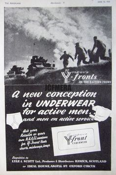 1941 Wartime Y-FRONTS  On the Eastern Front  Ad - WW2 Aircraft Print Advert