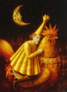 el jinete nocturne by Ronald Companoca Surrealism Painting, Pop Surrealism, Pierrot, Moon Illustration, Magic Realism, Chicken Art, Turkish Art, Korean Art, Greek Art