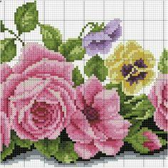 Cross Stitch Tree, Cross Stitch Borders, Cross Stitch Flowers, Cross Stitch Charts, Cross Stitch Designs, Cross Stitching, Cross Stitch Patterns, Blackwork Embroidery, Cross Stitch Embroidery