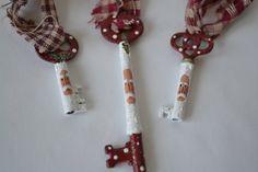 Hand Painted Santa Skeleton Key Ornament by coriekline on Etsy, $8.00