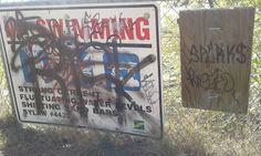 #graffiti #graffitiart #graff #saskatoon #saskatchewan #meewasin #sparks #risk #noswimming #river