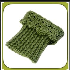 NEW Handmade Boot Cuffs Crochet Toppers Green Handmade crochet. Reversible, wear ribbed side for a casual look, or lacy scallop edge for a fall fashion, fancy trendy look.  Wear these chunky boot cuffs straight up, or fold over top of boot.  Made from soft acrylic yarn in shades of Sage Green  Ribbed bottom stretches to fit most calf sizes.  Machine Wash  Crochet Handmade in USA Handmade Accessories Hosiery & Socks