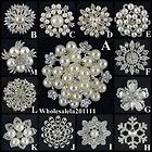Wholesale Rhinestone Crystal Wedding Bridal Bouquet Flower Pearls Brooch Pin 7 | eBay