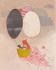 """Floating away"" by Aaron Piland, Ayumi Piland, Betsy Walton, Jill Bliss, Yellena James"