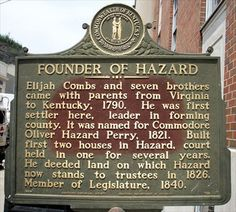 City of Hazard KY | Founder of Hazard - Kentucky Historical Markers on…